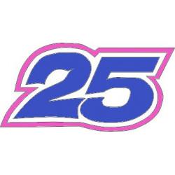 Numero 25 maverick pegatina...