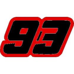 Numero 93 marquez pegatina...