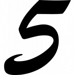Cinco 15 cm. pegatina...