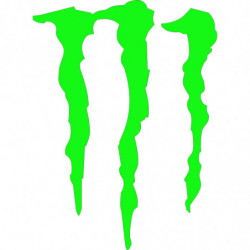 Garra monster 3 cm pegatina...