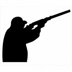 Cazador escopeta pegatina...